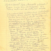Letter from Francisco Morín to Chantal Dumaine and José Triana, 2008