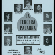 "Poster for the production, ""La tercera palabra"""