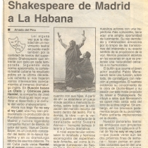 Shakespeare de Madrid a La Habana