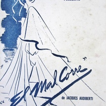 "Poster for the production, ""El mal corre"" (Havana, 1957)"