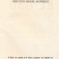 "program for the production, ""Dona Rosita la soltera"""