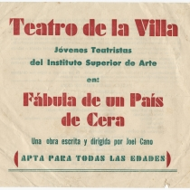 Program for the production, Fábula de un país de cera