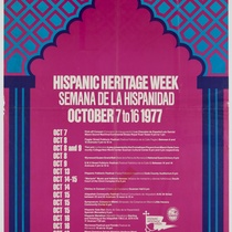 "Poster for the event, ""Hispanic Heritage Week, 1977"""
