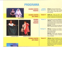 Program for the theater festival, Segundo Festival Internacional de Teatro Casandra