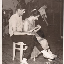 "Igor Youskevitch and Alicia Alonso during rehearsal for the ballet, ""Romeo and Juliet"""