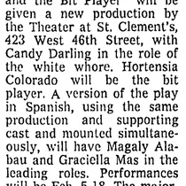 Advertising for the theatrical production, The White Whore and the Bit Player