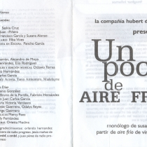 "Program for the production, ""Un poco de aire frío"""