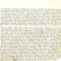 Fragments of a letter addressed to Francisco Morín, 1974