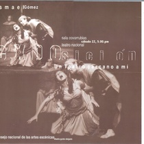 Flyer for the exhibit, Ismael Gómez: Un teatro cercano a mi