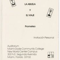 "Invitation for the productions, ""La abuela"" and ""El viaje"""