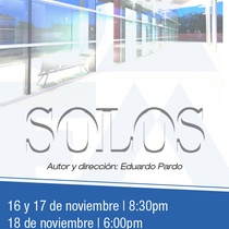 Poster for the production, Solos