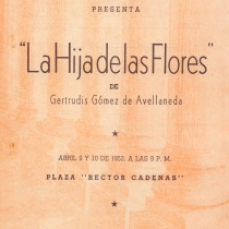 "Program for the production, ""La hija de las flores o Todos están locos"""