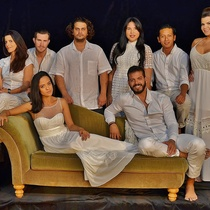 Photograph of the cast, Ifigenia en Aulis