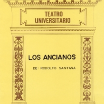"Cover from the program for the production, ""Los ancianos"""