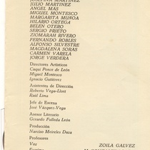 "Program for the production, ""Hotel de libre cambio"""