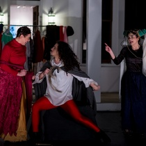 "Photographs of the production, ""Los cuentos de Canterbury"""