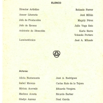 "Program for the production, ""Entremeses japoneses"""