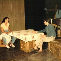 Photographs of rehearsal of the theatrical production, La Víctima