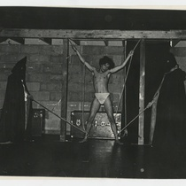 Rafael Delgado (Marzio) in the theatrical production, Francesco: Vida y milagros de los Cenci
