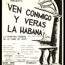 "Poster for the production, ""Ven conmigo y verás La Habana"""