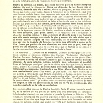 Program for the theatrical production, Electra Garrigó