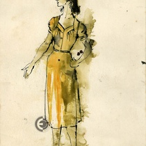 "Costume design for the character Luz Marina for the production, ""Aire frío"""