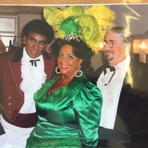 Photograph of the theatrical production, Maria la O, with actors in blackface