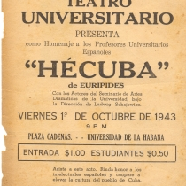 "Poster for the production, ""Hécuba"""