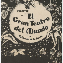 "Invitation for the production, ""El gran teatro del mundo"""