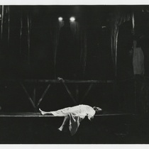 Photograph of Manuel Martín Jr. (Francesco) in the theatrical production, Francesco: The Life and Times of the Cencis