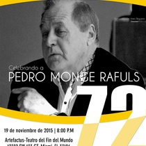 "E-blast for the event, ""Celebrando a Pedro Monge Rafuls"""