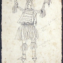 Costume sketches for the production, Ciclo de música popular