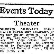 Press clipping for the production, Cuatro comedias