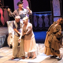 "Gerardo RIverón, Isabel Moreno, Julio Rodríguez, Maribel Barrios in ""El No"""