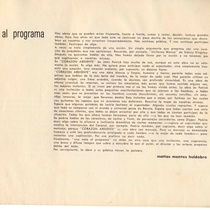 "Program for the production, ""Corazón ardiente"""