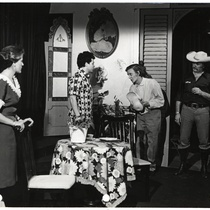 "Scene from the play, ""El robo del cochino"" (The Pig Theft)"