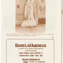 "Program for the production, ""25 Años"" (25 Years)"