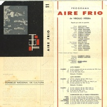 "Program for the production, ""Aire frío"" (Havana, 1962)"