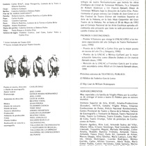 "Program for the production, ""La niñita querida"""
