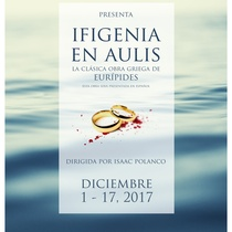Poster for the production, Ifigenia en Aulis