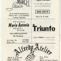 "Program for the production, ""Mujeres"" (Women)"
