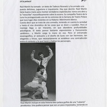"Press note for the production, ""Matrimonio blanco"""
