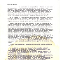 Letter from Roberto Fandiño to Francisco Morín, 1994