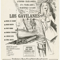 "Playbill for the production, ""Los gavilanes"" (The sparrowhawks)"