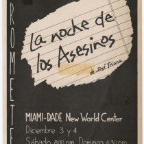 "Poster for  the production, ""La noche de los asesinos"""