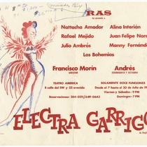 "Playbill for the production, ""Electra Garrigó"""