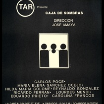 "Poster for the production, ""Caja de sombras"""