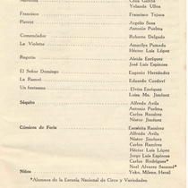 "Program for the production ""Don Juan"""