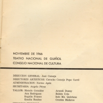 "Program for the production, ""Shangó de Ima"""