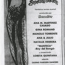 "Flyer for the musical review, ""Espíritu Burlón"""